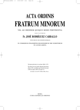 fratrum minorum - Order of Friars Minor