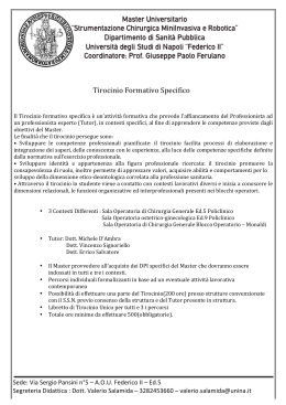 Tirocinio Formativo Specifico