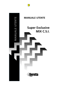 Super Exclusive MIX CSI MANUALE UTENTE