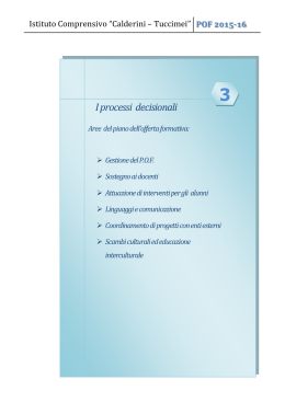 I processi decisionali - Home Page