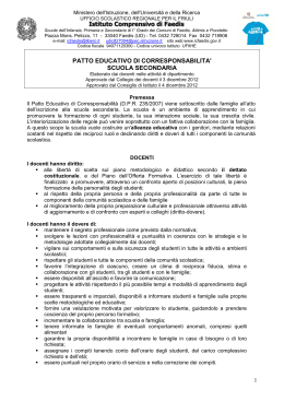 Patto Educativo di Corresponsabilità 2015-16