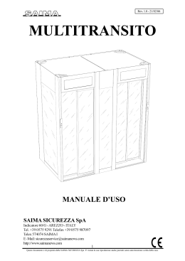 Шлюзовые кабины: Manuale d`Uso Multitransoto - ARMO-RED