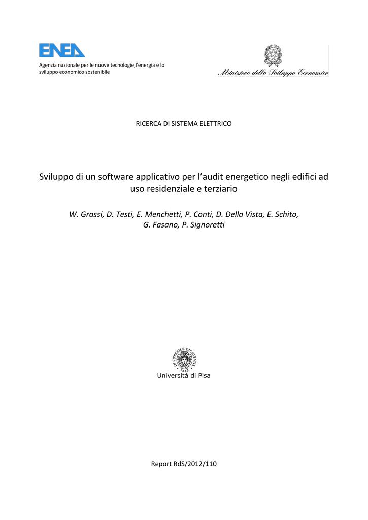 """2012 """"Sviluppo Di Un Software Applicativo Per L Audit Ener Ico Negli"""