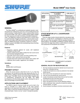 Shure SM58 Microphone User Guide
