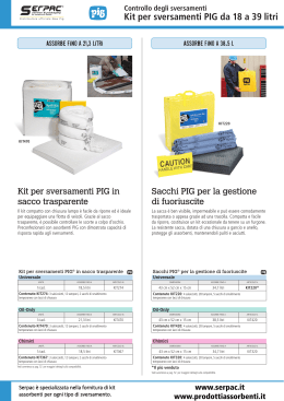 Kit per sversamenti da 18 a 39 serpac.it