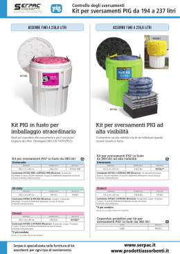 Kit per sversamenti da 194 a 237 litri serpac.it